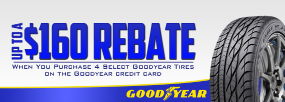 Goodyear Rebate - Up to $160